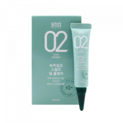 AMOS PROFESSINAL Green Tea Feeling Scalp Deep Cleanser 15ml*6