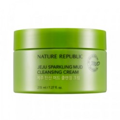 NATURE REPUBLIC Jeju Sparkling Mud Cleansing Cream 215ml