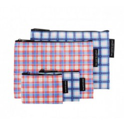 TOO COOL FOR SCHOOL Check Flat Pouch