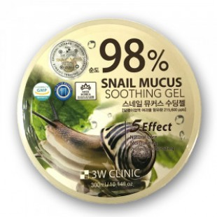 3W CLINIC Snail Mucus Soothing Gel 300ml