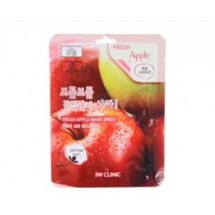 3W CLINIC Fresh mask sheet [Apple] X10sheet