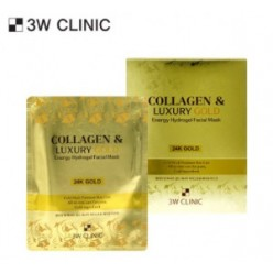 3W CLINIC Collagen & Luxury Gold Energy Hydrogel Facial Mask 30g*5ea