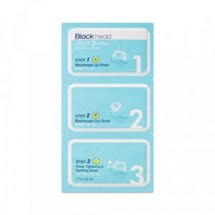 IT'S SKIN Black Head Clear 3-Step Solution Sheet