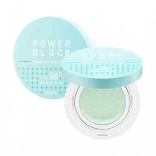 APIEU Power Block Cooling Tone Up Sun Cushion SPF50+ PA++++ 14g