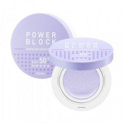 APIEU Power Block Cooling Tone Up Sun Cushion Azulene SPF50+ PA++++ 14g