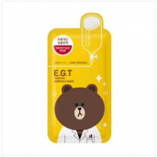 MEDIHEAL Line Friends E.G.T Timetox Ampoule Mask 1box (10pcs)